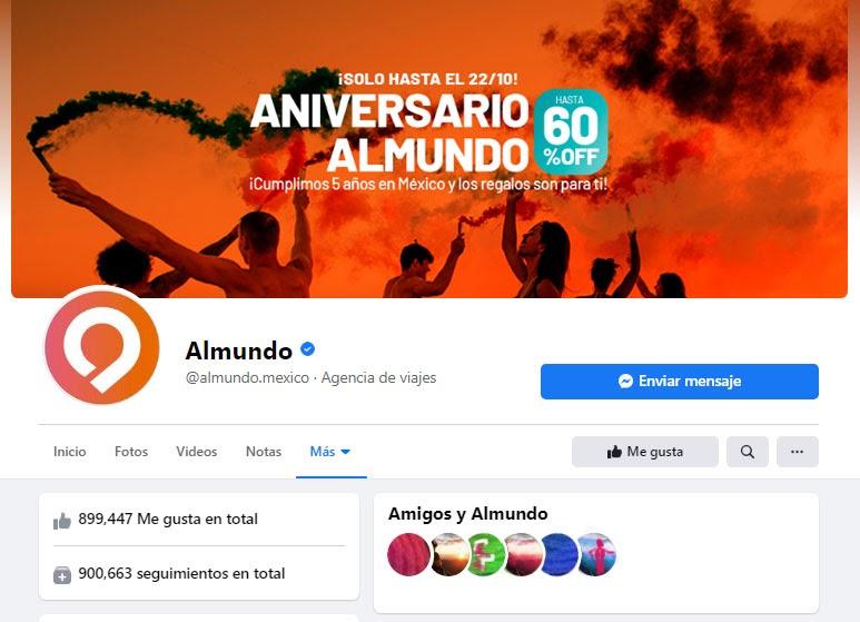 página de facebook de almundo