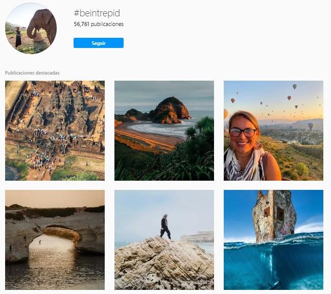 instagram de intrepid travel