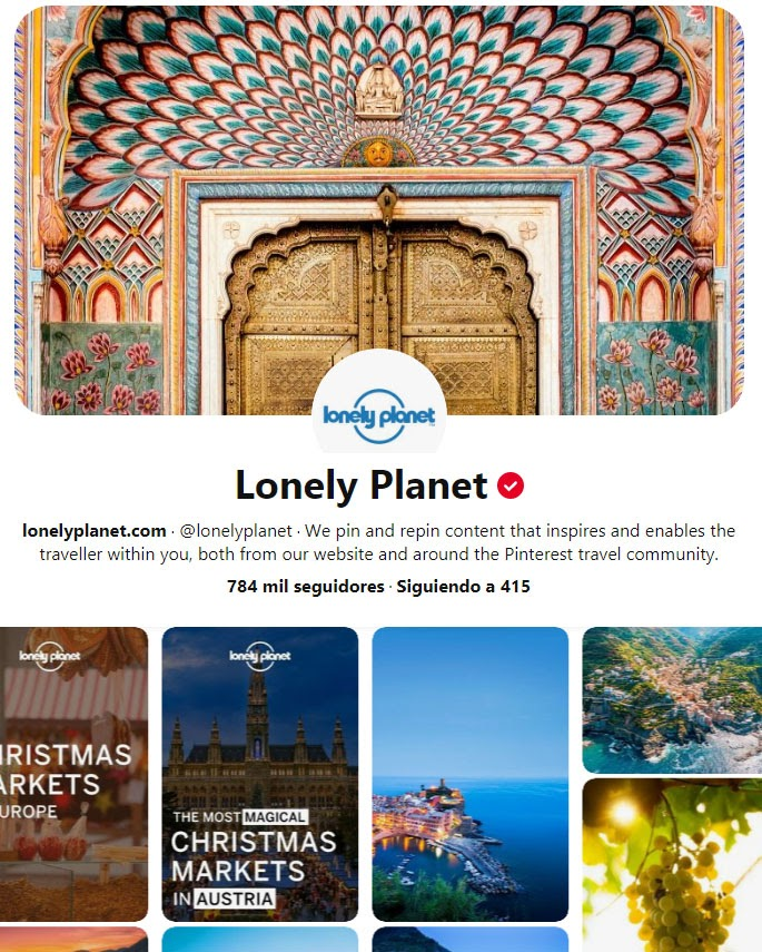 lonely planet pinterest profile