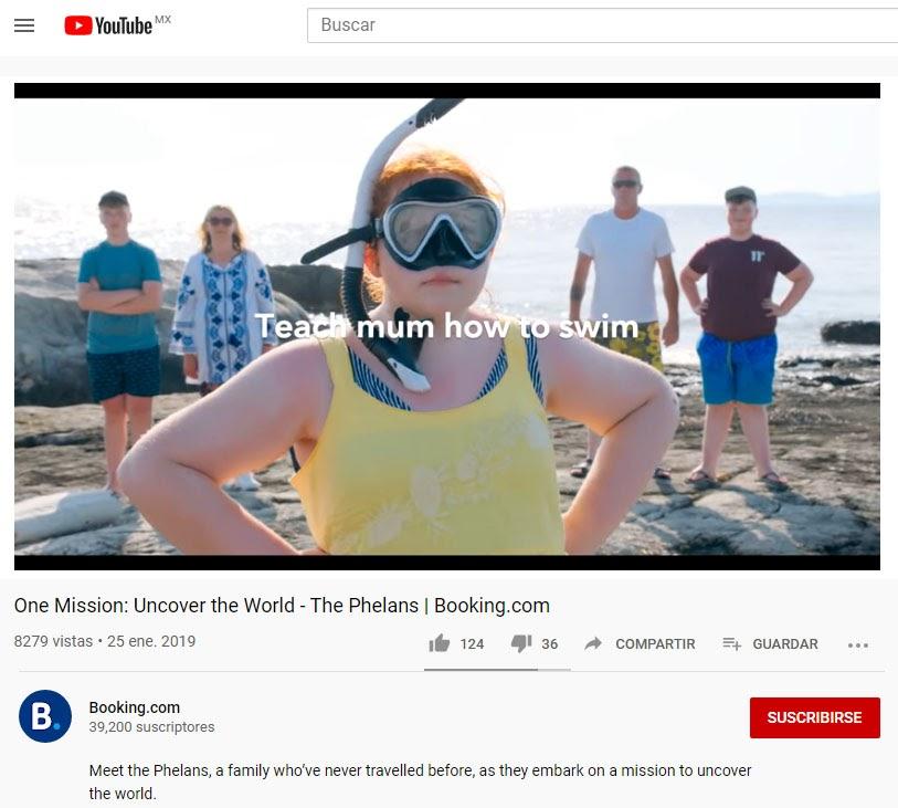 youtube de booking